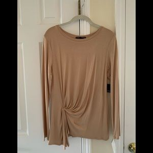 """New W. Tags """"Femme-Tresics"""" Ruched Tunic Top"""